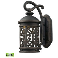 Tuscany Coast LED 14 inch Weathered Charcoal Outdoor Wall Sconce