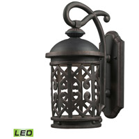 Tuscany Coast LED 18 inch Weathered Charcoal Outdoor Wall Sconce