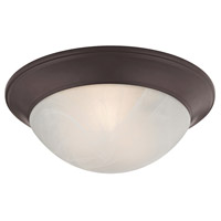 Signature 2 Light 15 inch Oil Rubbed Bronze Flush Mount Ceiling Light