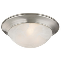 Signature 2 Light 15 inch Brushed Nickel Flush Mount Ceiling Light
