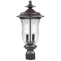 Trinity 2 Light 20 inch Oil Rubbed Bronze Outdoor Post Light