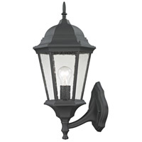 Temple Hill 1 Light 21 inch Matte Textured Black Outdoor Wall Sconce