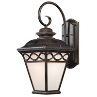Mendham 1 Light 12 inch Hazelnut Bronze Outdoor Wall Sconce