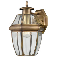 Ashford 1 Light 8 inch Antique Brass Outdoor Coach Lantern, Small