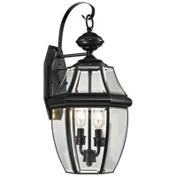 Ashford 2 Light 21 inch Black Outdoor Wall Sconce