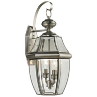Ashford 2 Light 21 inch Antique Nickel Outdoor Wall Sconce