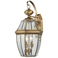 Ashford 2 Light 10 inch Antique Brass Outdoor Coach Lantern, Medium