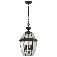 Ashford 3 Light 12 inch Black Outdoor Hanging Lantern