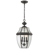 Ashford 3 Light 12 inch Oil Rubbed Bronze Outdoor Hanging Lantern
