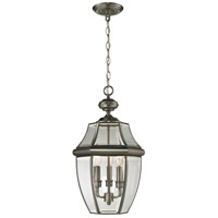 Ashford 3 Light 12 inch Antique Nickel Outdoor Hanging Lantern