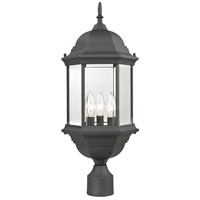 Spring Lake 3 Light 23 inch Matte Textured Black Outdoor Post Light