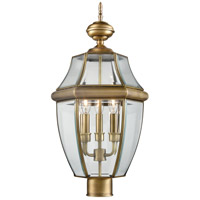 Ashford 3 Light 23 inch Antique Brass Outdoor Post Lantern, Large