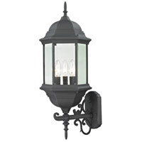 Spring Lake 3 Light 25 inch Matte Textured Black Outdoor Wall Sconce
