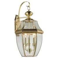 Thomas Lighting 8603EW/85 Ashford 3 Light 23 inch Brass Exterior Sconce