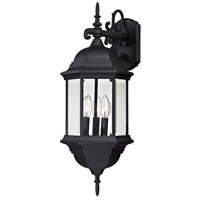 Spring Lake 3 Light 25 inch Matte Black Outdoor Wall Sconce