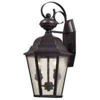 Cotswold 2 Light 10 inch Oil Rubbed Bronze Outdoor Wall Sconce