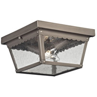 Springfield 2 Light 10 inch Antique Nickel Outdoor Flush Mount