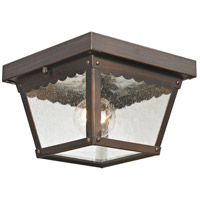 Springfield 2 Light 8 inch Hazelnut Bronze Outdoor Flush Mount