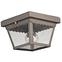 Springfield 2 Light 8 inch Dark Pewter Outdoor Flush Mount