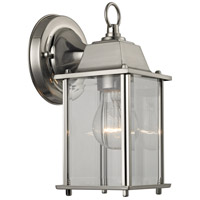 Cotswold 1 Light 9 inch Brushed Nickel Outdoor Wall Sconce