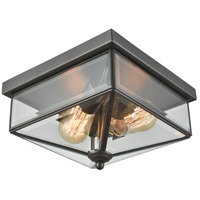 Lankford 2 Light 10 inch Oil Rubbed Bronze Outdoor Flush Mount