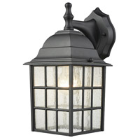 Holton 1 Light 12 inch Satin Black Outdoor Wall Sconce