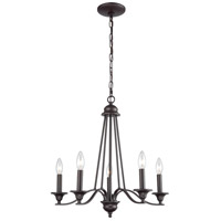 Thomas Lighting CN110521 Farmington 5 Light 21 inch Oil Rubbed Bronze Chandelier Ceiling Light