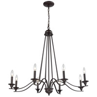 Thomas Lighting CN110821 Farmington 8 Light 36 inch Oil Rubbed Bronze Chandelier Ceiling Light
