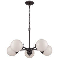 Thomas Lighting CN120521 Beckett 5 Light 26 inch Oil Rubbed Bronze Chandelier Ceiling Light