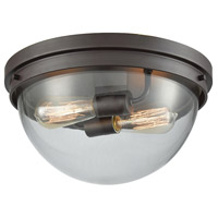 Thomas Lighting CN129231 Beckett 2 Light 14 inch Oil Rubbed Bronze Flush Mount Ceiling Light