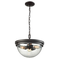Thomas Lighting CN129281 Beckett 3 Light 14 inch Oil Rubbed Bronze Pendant Ceiling Light Dual Mount