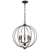 Thomas Lighting CN15751 Williamsport 5 Light 19 inch Oil Rubbed Bronze Chandelier Ceiling Light
