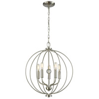 Thomas Lighting CN15752 Williamsport 5 Light 19 inch Brushed Nickel Chandelier Ceiling Light