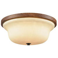 Thomas Lighting CN160231 Park City 2 Light 13 inch Oil Rubbed Bronze with Wood Grain Flush Mount Ceiling Light