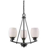 Thomas Lighting CN170321 Casual Mission 3 Light 17 inch Oil Rubbed Bronze Chandelier Ceiling Light