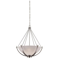 Casual Mission 3 Light 21 inch Brushed Nickel Chandelier Ceiling Light