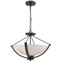 Casual Mission 3 Light 20 inch Oil Rubbed Bronze Semi Flush Mount Ceiling Light