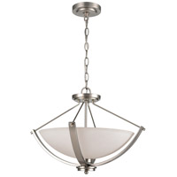 Casual Mission 3 Light 20 inch Brushed Nickel Semi Flush Mount Ceiling Light