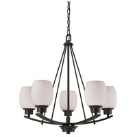 Thomas Lighting CN170521 Casual Mission 5 Light 22 inch Oil Rubbed Bronze Chandelier Ceiling Light