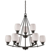 Casual Mission 9 Light 29 inch Oil Rubbed Bronze Chandelier Ceiling Light