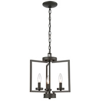 Thomas Lighting CN240381 West End 3 Light 15 inch Oil Rubbed Bronze Semi Flush Mount Ceiling Light