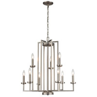 Thomas Lighting CN240922 West End 9 Light 27 inch Brushed Nickel Chandelier Ceiling Light