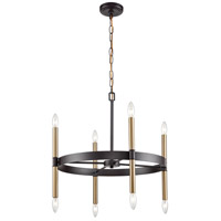 Thomas Lighting CN260621 Notre Dame 6 Light 24 inch Oil Rubbed Bronze and Gold Chandelier Ceiling Light