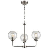 Thomas Lighting CN280322 Astoria 3 Light 23 inch Brushed Nickel Chandelier Ceiling Light