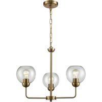 Thomas Lighting CN280325 Astoria 3 Light 23 inch Satin Gold Chandelier Ceiling Light