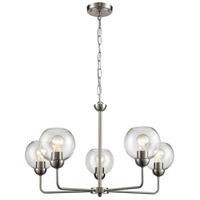 Thomas Lighting CN280522 Astoria 5 Light 28 inch Brushed Nickel Chandelier Ceiling Light