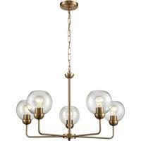 Thomas Lighting CN280525 Astoria 5 Light 28 inch Satin Gold Chandelier Ceiling Light
