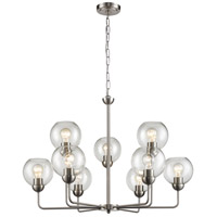 Thomas Lighting CN280922 Astoria 9 Light 32 inch Brushed Nickel Chandelier Ceiling Light
