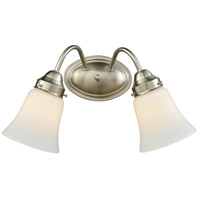Califon 2 Light 13 inch Brushed Nickel Vanity Wall Light