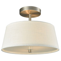 Morgan 2 Light 15 inch Brushed Nickel Semi Flush Mount Ceiling Light